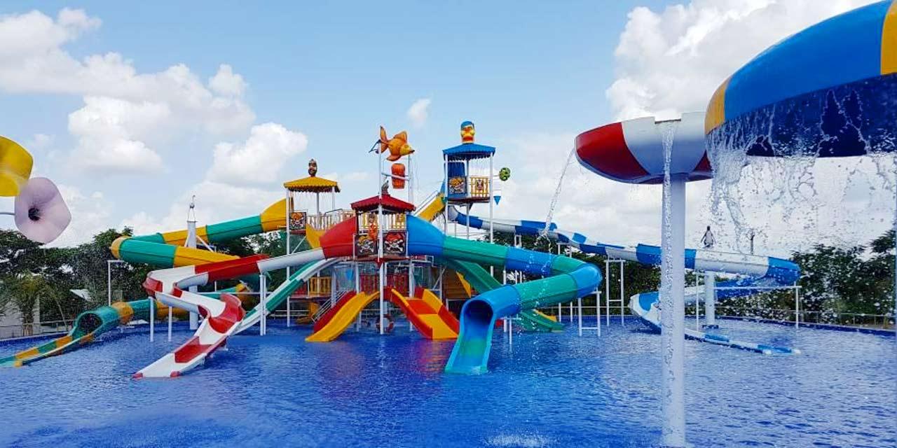 Thunder zone Water Park (Kids & employees Activity)
